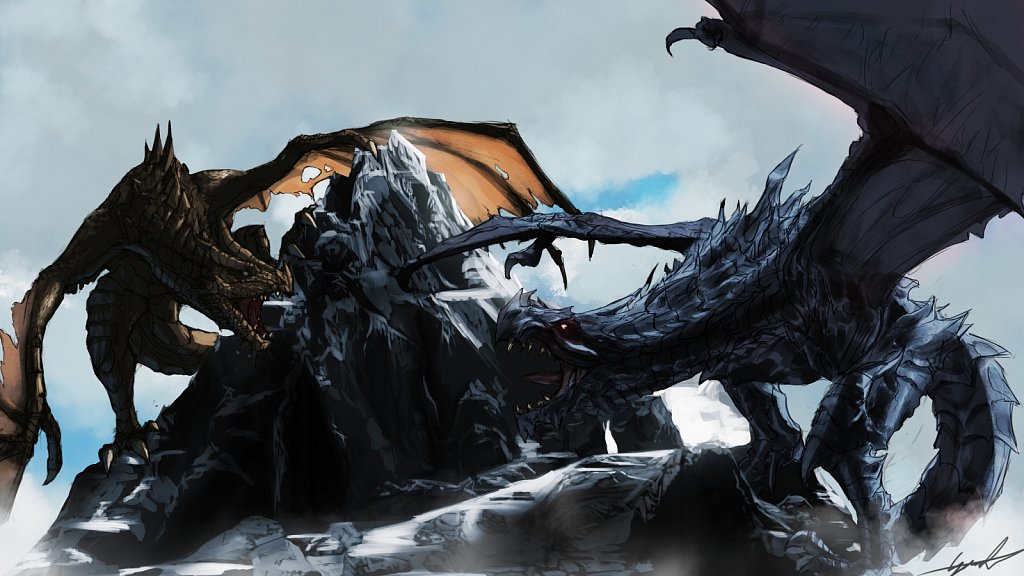 Alduin and Paarthunax
