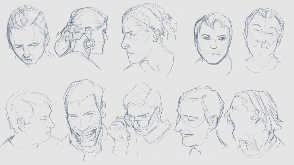2 Minute Face Studies